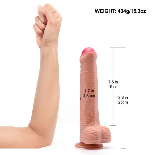 Hyper-Realistic Suction Cup Dual-Layer silicone Dildo