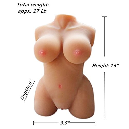 Beautiful 3D Silicone Sex Torso Half Body Love Doll