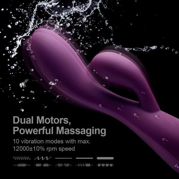 Ultra-Soft Flexible Design G-spot Clitoris Rabbit Vibrator