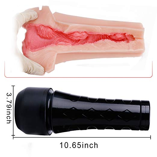 Realistic Textured Pocket Pussy Male Masturbation Cup
